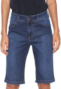 Bermuda Jeans Hering Slim Estonada Azul