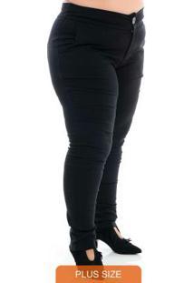 Calça Skinny Preto Plus Size