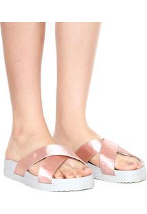 Rasteira Birken Dafiti Shoes Cetim Rosa