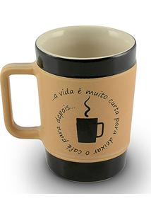 Caneca Coffe To Go-Vida Curta 70Ml-Mondoceram - Pardo
