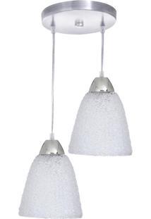 Luminária Pendente Reluz Branco 2 Lâmpadas - 91B