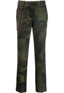 Ermanno Scervino Camouflage Print Trousers - Verde
