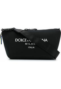 Dolce & Gabbana Bolsa Palermo Com Estampa De Logo - Preto