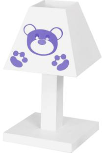 Abajur Dôda Baby Ursa Imperial Lilás Mdf