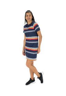 Vestido Fila Summer Stripe - Adulto - Azul Escuro