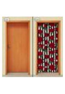 Adesivo Decorativo De Porta - Rosas - Flores - 1925Cnpt