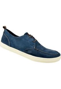 Sapato Casual Camurça Constantino Masculino - Masculino-Azul