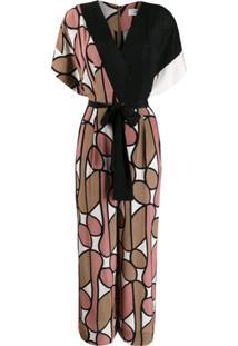 Diane Von Furstenberg Macacão Foye Com Cinto - Preto