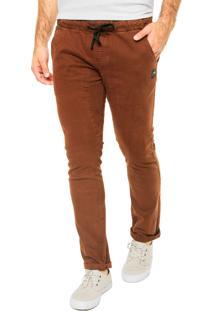Calça Jeans Rusty Reta Hook Out Marrom