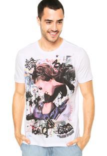 Camiseta Ellus 2Nd Floor Cat And Bat Branca