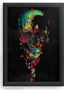 Quadro Decorativo Skull Colors