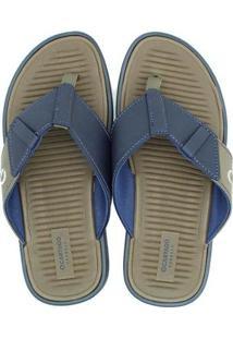 Chinelo Cartago Valência V Masculino - Masculino-Azul