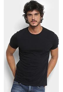 Camiseta Replay Lisa Masculina - Masculino-Preto