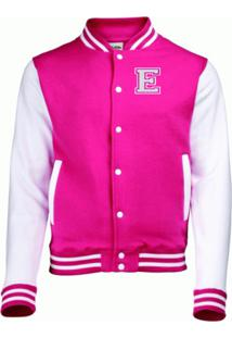 Jaqueta College4Ever Letra E Bordada Pink