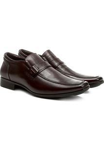 Sapato Social Couro Ferricelli Genebra - Masculino-Marrom Escuro