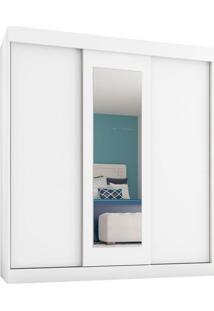 Guarda-Roupa Casal Com 1 Espelho Fortaleza 3 Pt 2 Gv Branco