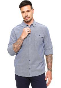 Camisa Malwee Bolsos Azul