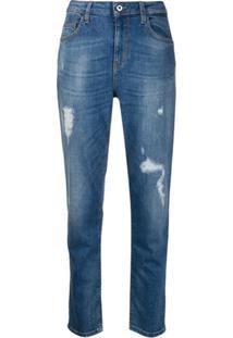 Liu Jo Calça Jeans Skinny Com Destroyed - Azul