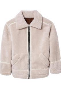 Casaco Weekend Fur (Bege Claro, Gg)
