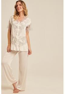 Pijama Joge Longo Off-White
