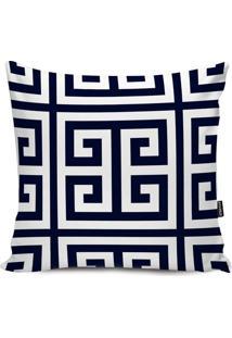 Capa Para Almofada Impermeável Geometric- Azul Marinho &Stm Home