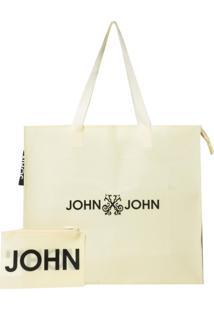 Bolsa Tote John John Plastic Yellow (Amarelo Claro, Un)