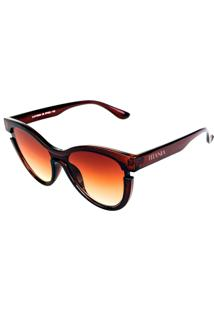 Óculos De Sol Titânia Gatinho Marrom Com Lente Degrade