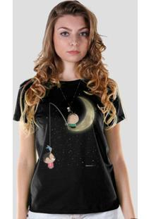 Camiseta Bandup! Turma Da Mônica Toy Lua - Feminino-Preto