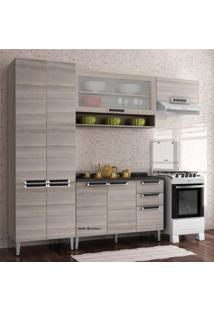 Cozinha Compacta Sem Balcão 3 Peças Com Paneleiro Duplo Profundo Itatiaia Coimbra Bege