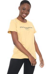Camiseta Colcci Environment Amarela