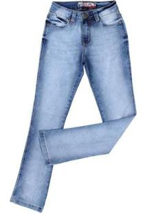 098ba76d6 ... Calça Jeans Manchada Rodeo Western 23352 Feminina - Feminino-Azul Claro
