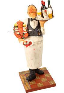 Escultura Decorativa De Resina O Garçom
