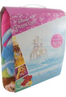 Cobertor Com Mangas Zona Criativa Princesas Disney Rosa
