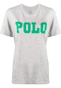 Polo Ralph Lauren Camiseta Com Estampa De Logo - Cinza