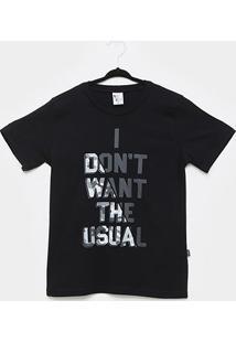 Camiseta Pulla Bulla Frase Camuflada Masculina - Masculino-Preto