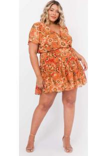Vestido Almaria Plus Size Tal Qual Curto Chiffon E