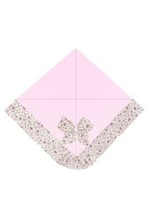Manta Enxoval Piquet Padroeira Baby Elegance Rosa..