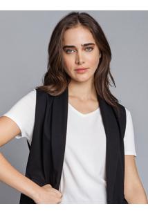 Blusa Básica Decote V Branco Off White - Lez A Lez