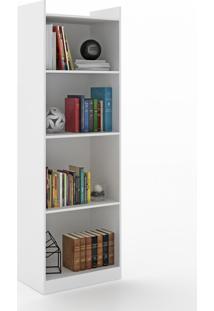 Estante Para Livros 4 Prateleiras 600053 Branco - Vedere