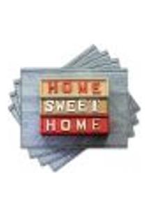 Jogo Americano - Home Sweet Home Com 4 Peças - 946Jo
