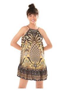 Vestido Babado Sabor De Abacaxi