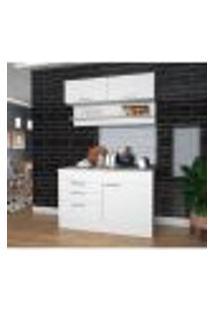 Cozinha Compacta Marajó Com Aéreo E Balcão - Branco