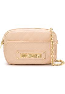 Love Moschino Bolsa Transversal Matelassê Com Logo - Neutro