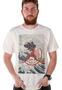 Camiseta Bandup! Bdp Clothing Eyes Of Tropicalia Masculina - Masculino-Branco