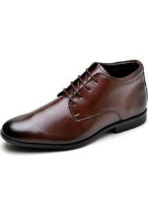 Sapato Social Couro Lux Reta Oposta Masculino - Masculino-Marrom