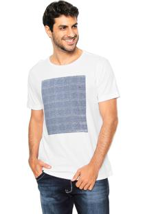 Camiseta Aramis Regular Fit Quadro Branca