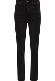 Paige Calça Jeans Slim Sarah Cintura Alta - Preto