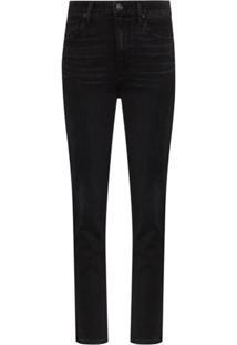 Paige Sarah High-Rise Slim Leg Jeans - Preto