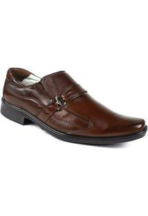 Sapato Confortável Ranster Couro Palmilha Gel Ranster - Masculino-Marrom Escuro