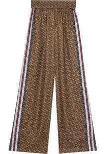 Burberry Calça Monogramada - Marrom